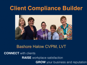 Increase veterinary client compliance with Bash Halow